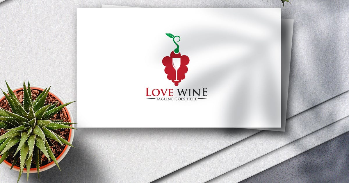 Download Love Wine Logo by Voltury