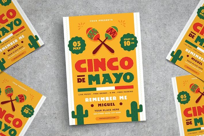 Thumbnail for Cinco De mayo Flyer 02