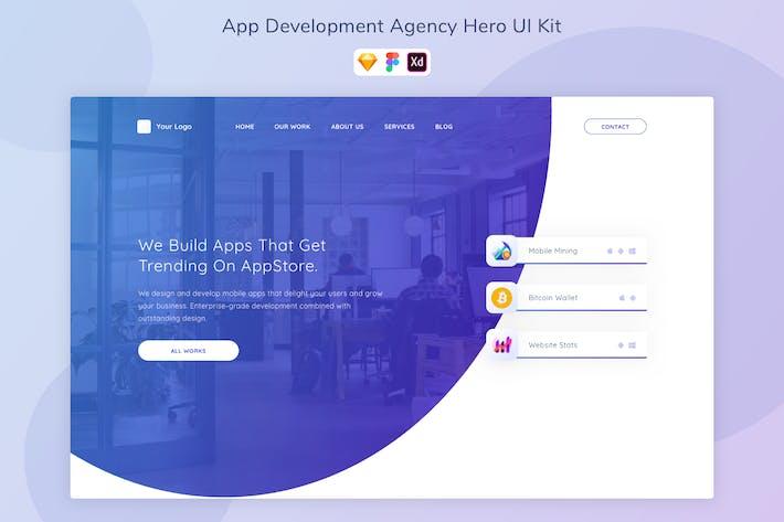 App Development Agency Hero UI Kit