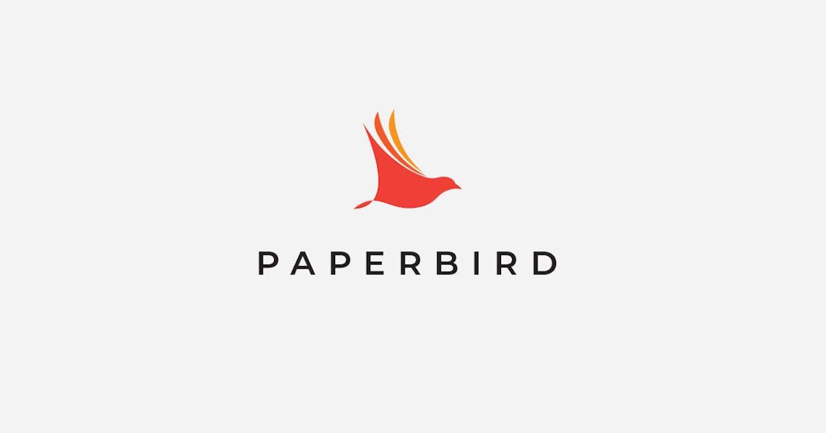 Paper Bird Logo Template by artimasa_studio