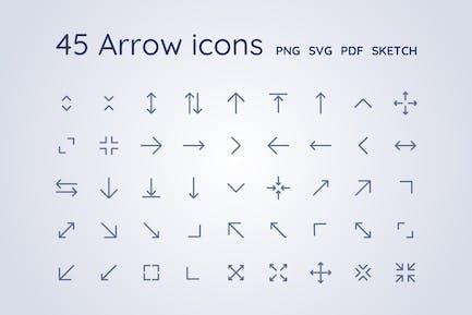 45 Arrow icons - Sketch file, PNG, SVG, PDF
