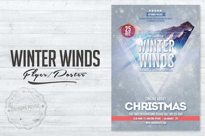 Thumbnail for Winter Winds Flyer Poster