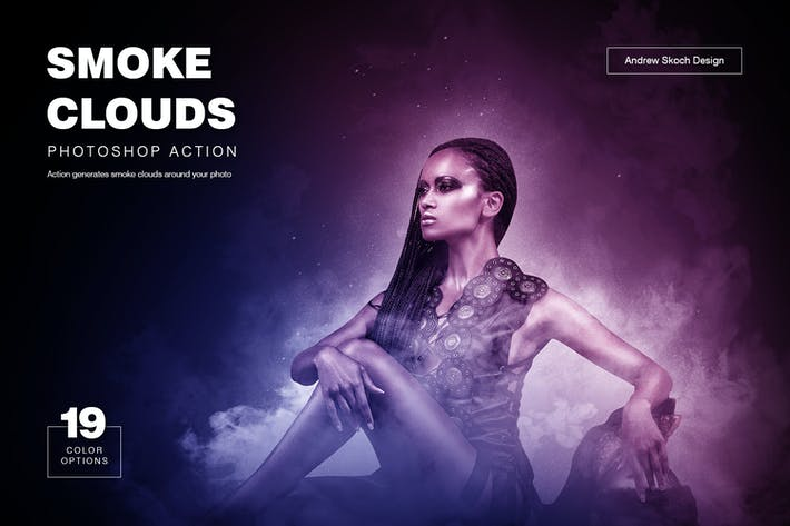 Thumbnail for Smoke Clouds Photoshop Acción