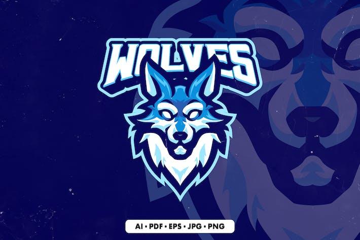 Wolf 3 Mascot Logo template