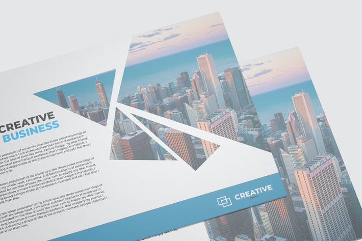 Thumbnail for Business Postcard Mockup Template