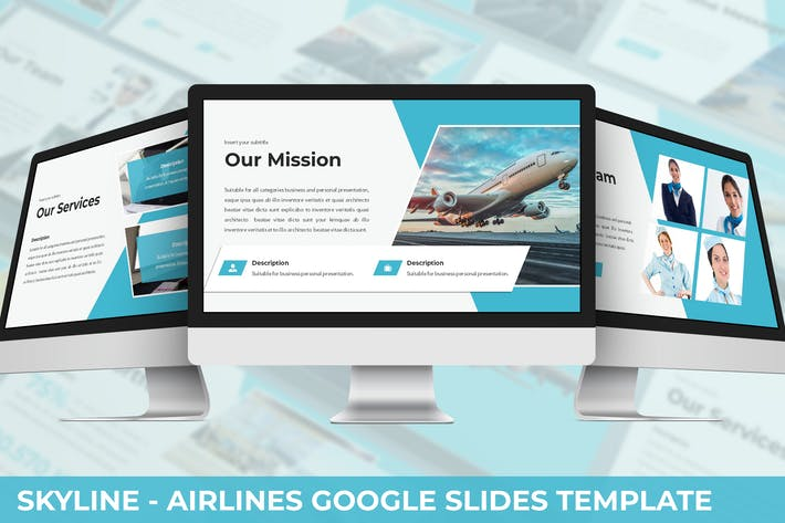 Thumbnail for Skylines - Airlines Google Slides Template