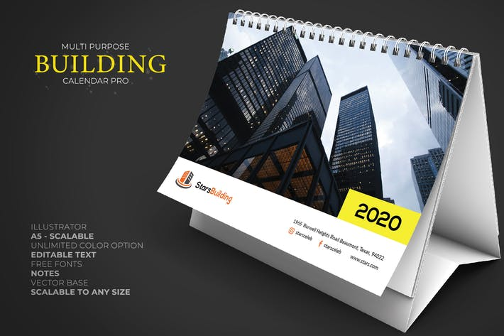 Thumbnail for 2020 Business Calendar Desk Pro