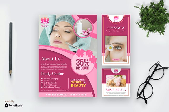 Thumbnail for Quenny - Spa and Beauty Template Pack HR