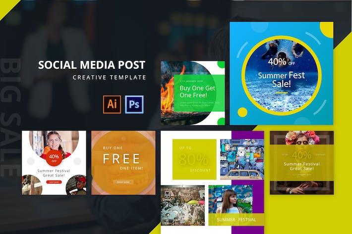 Thumbnail for Summerfest Social Media Post Template