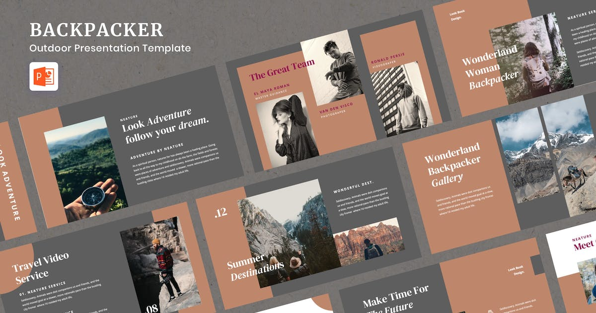 Download Backpacker - Outdoor Presentation Powerpoint by peterdraw
