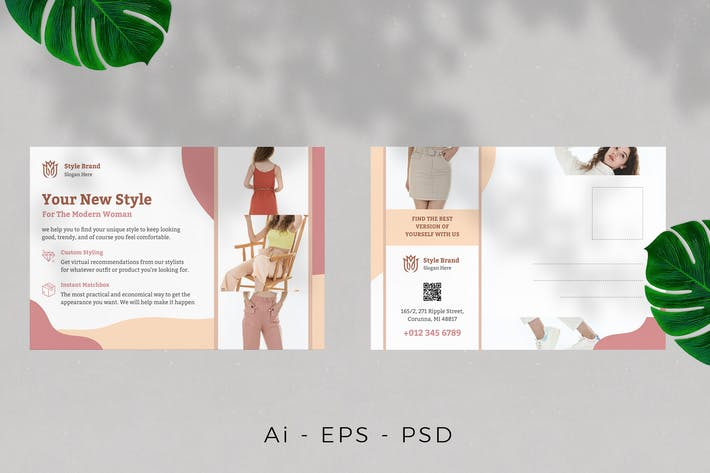 Thumbnail for Modisches Postkarten-Design