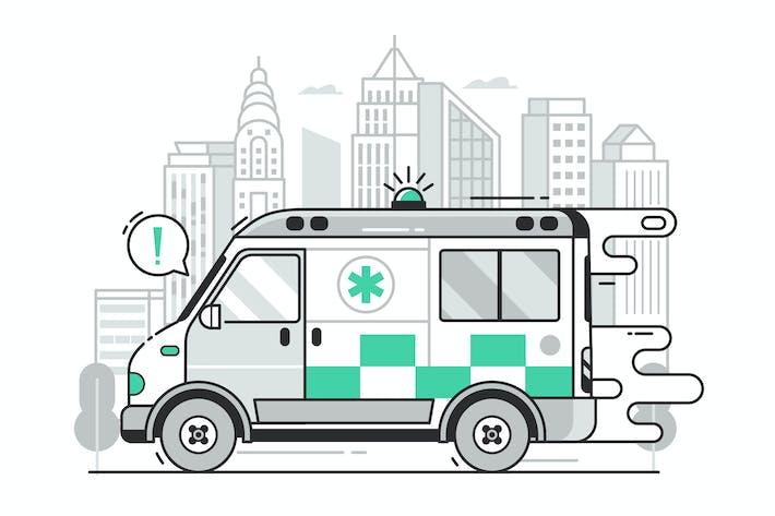 Thumbnail for Ambulance Car City Emergency Service Concept