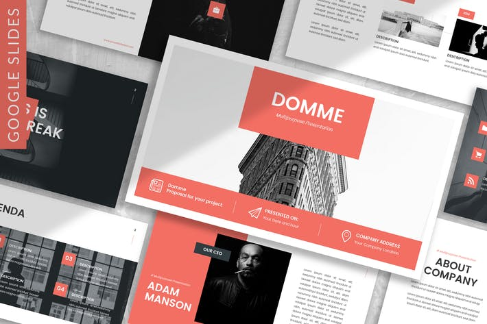 Thumbnail for Domme - Architecture Google Slide Template
