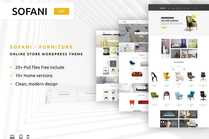 Sofani - Furniture Store HTML Template by YoloPSD on Envato Elements