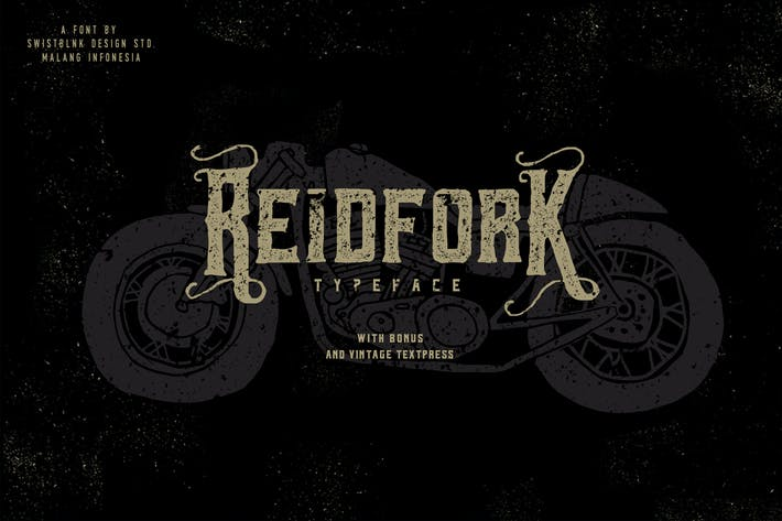Cover Image For Reidfork Typeface + Textpress