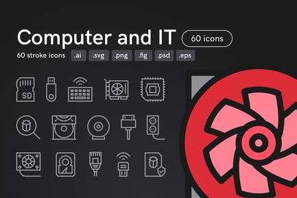 Computer and IT Icons (60 icons)
