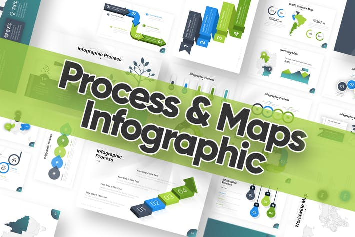 Infographic Process and Maps Powerpoint Template