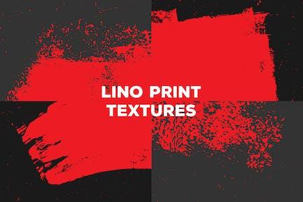 Lino Print Textures – Paint & Paper