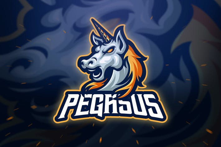 Thumbnail for Head Pegasus Sport and Esport Logo Template