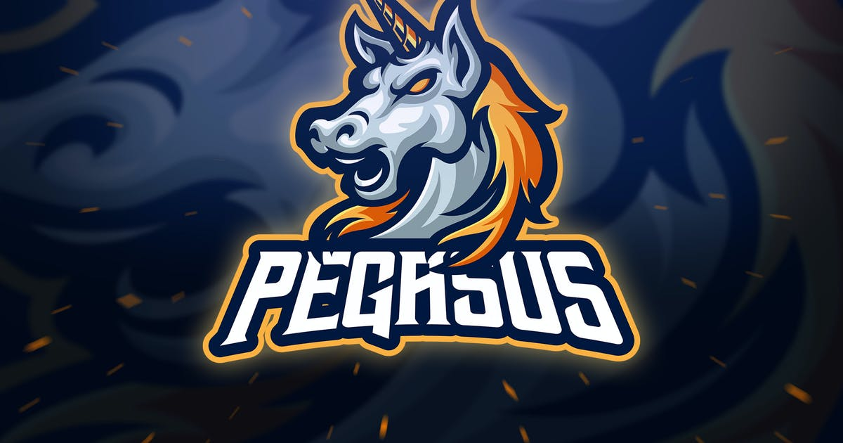 Download Head Pegasus Sport and Esport Logo Template by Blankids