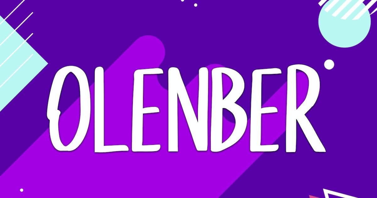 Download Olenber Font by indotitas