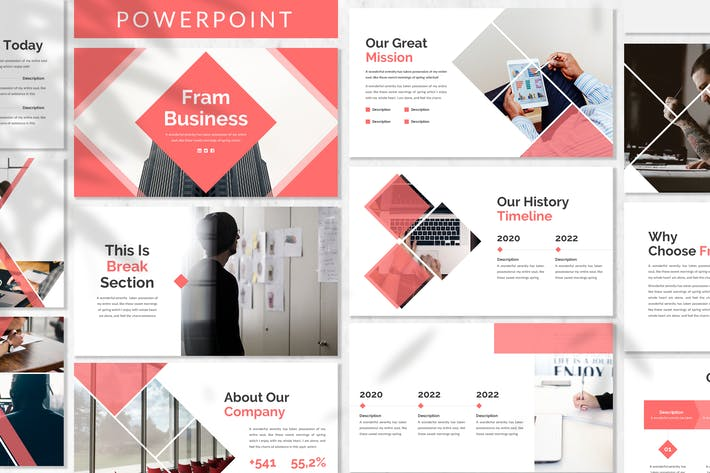 Thumbnail for Fram - Plantilla de PowerPoint empresarial