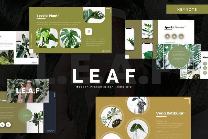 Thumbnail for Leaf - Keynote Template