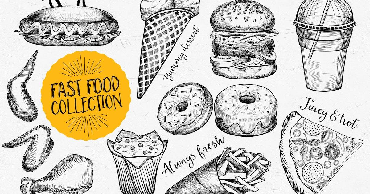 Fast Food Elements by BarcelonaDesignShop