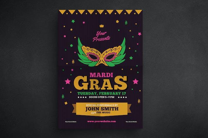 Thumbnail for Mardi Gras Event Flyer