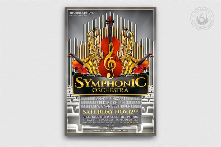 Thumbnail for Symphonic Orchestra Flyer Template V1