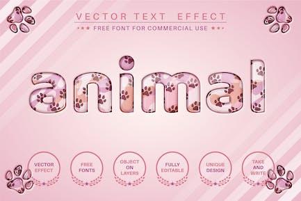 Стеклянное животное - редактируемый текстовый эффект, стиль шрифта