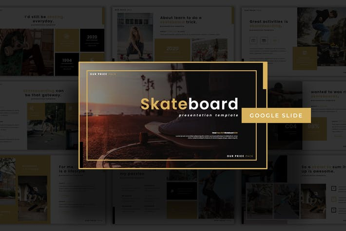 Thumbnail for Skateboard - Google Slide Template