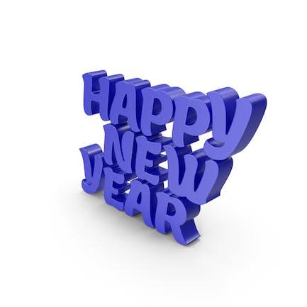 Happy New Year Blue