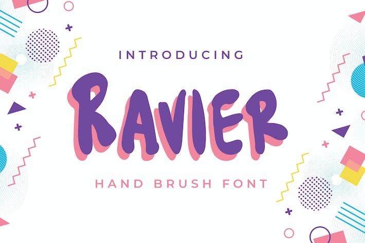 Ravier - Fuente de cepillo de mano