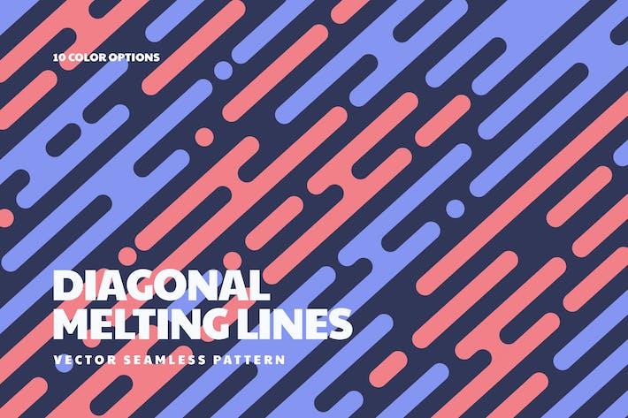 Melting Lines in Diagonal Rhythm Seamless Patterns