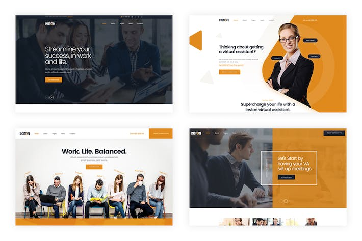 Thumbnail for Inston - Virtual Assistant Services PSD Template