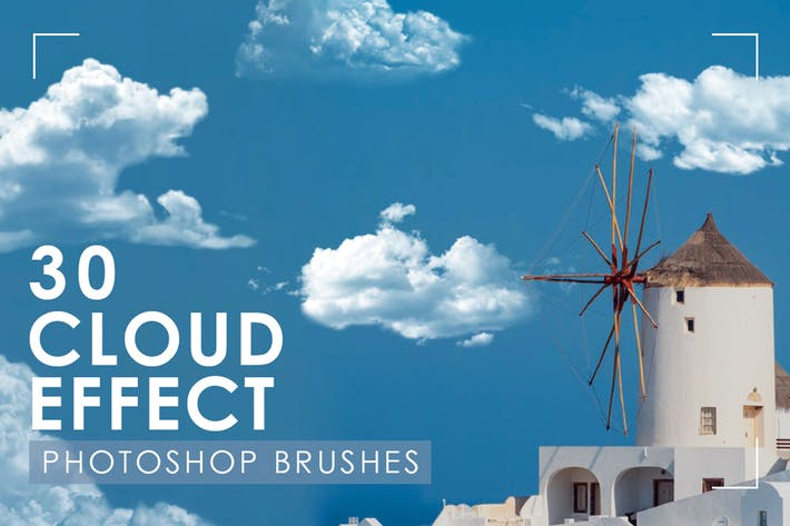 Thumbnail for 30 Realistic Cloud Photoshop Brushes