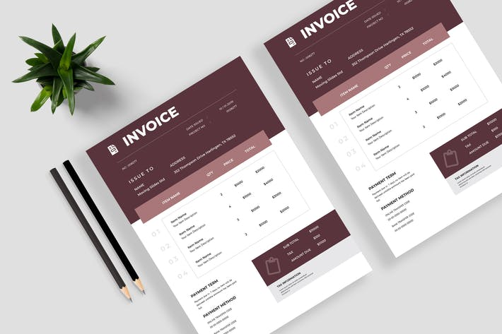 Thumbnail for Minimalist Invoice Template 11