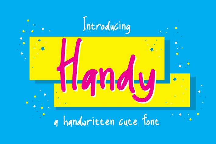 Thumbnail for Handy Fonts - A Handwritten Cute Font