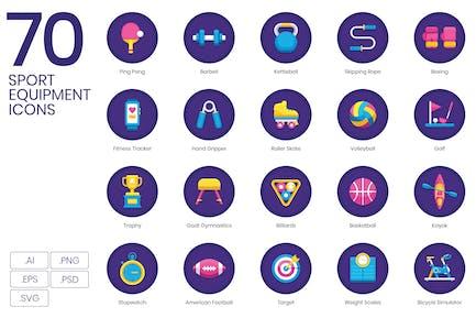 70 Íconos de equipos deportivos (Iconos vectoriales)