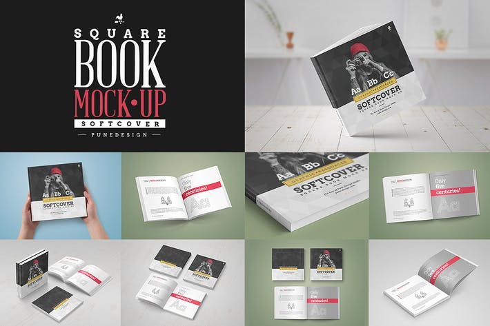 Cover Image For Square Book Mock-Up / Softcover Edition