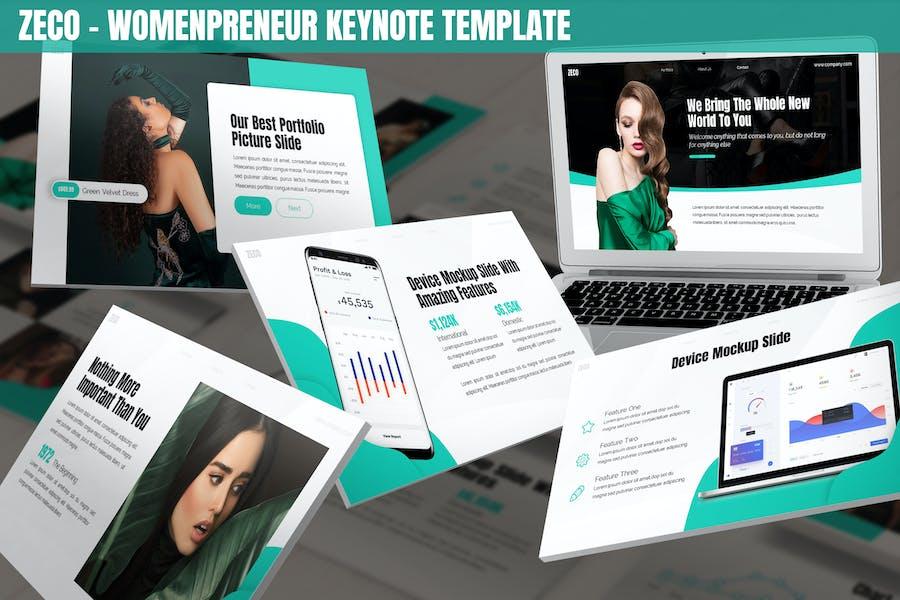 Zeco - Womenpreneur Keynote Template