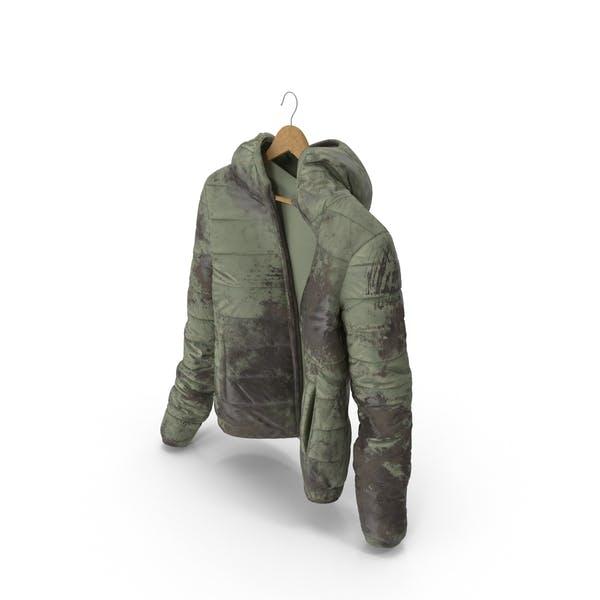 Thumbnail for Women's Down Jacket Mud On Hanger