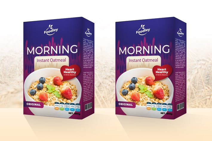 Thumbnail for Oatmeal Packaging Template