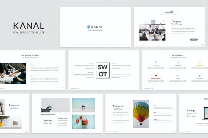 Thumbnail for Kanal Powerpoint Template