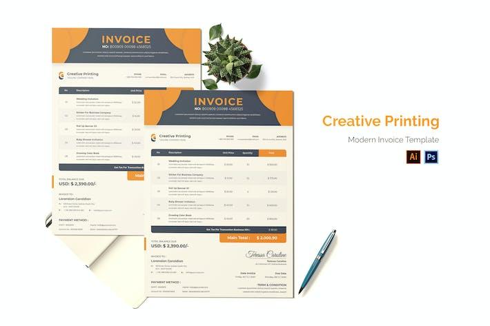 Creative Printing Invoice