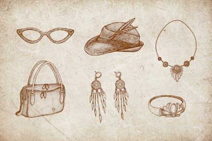 Vintage Illustration - Woman Fashion