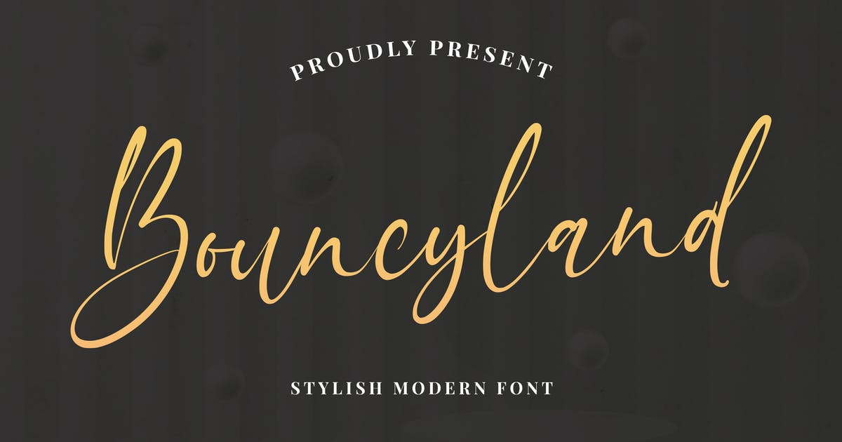 Download Bouncyland - Stylish Bouncy Script by Alterzone