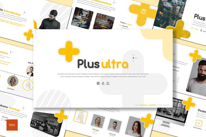 Thumbnail for Plus Ultra - Шаблон Powerpoint