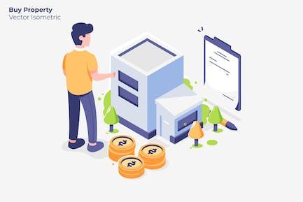 Comprar Propiedad - Ilustración Vector